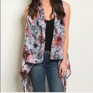 Accessories - Gray and Red Kimono